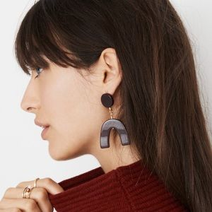 Madewell acrylic shapes statement earrings